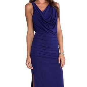 "BCBG Purple ""Nicole"" Jersey Drape Gown"
